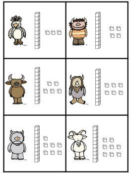 Here's a set of Wild Thing themed cards for place value activities. Includes…