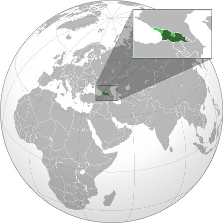 Georgia (orthographic projection with inset).svg