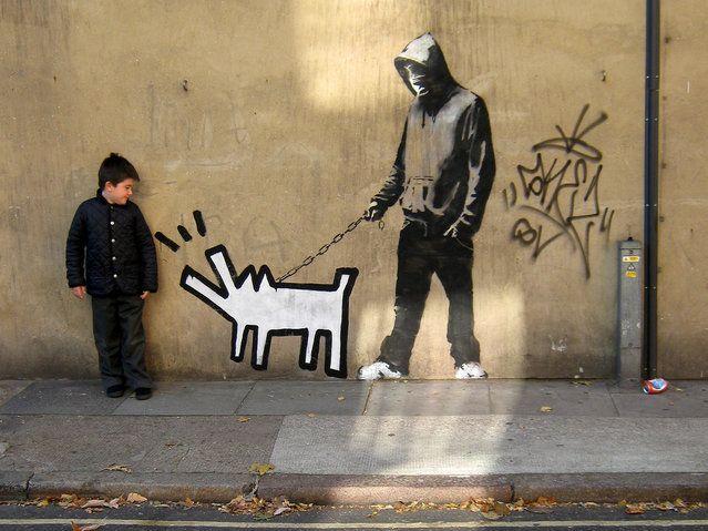 Banksy. Bermondsey, SE1, UK. (Photo by Mike Panayi)