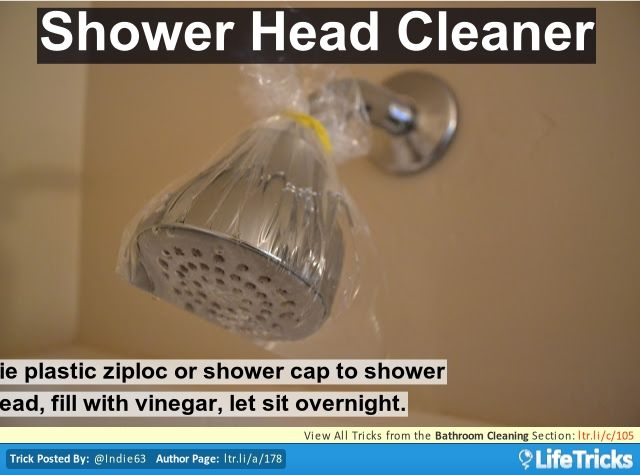 how to clean a bathroom shower head