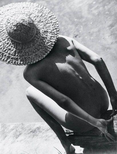 Martin Munkacsi - Nude in Straw Hat, 1944Hungarian Museum of Photography
