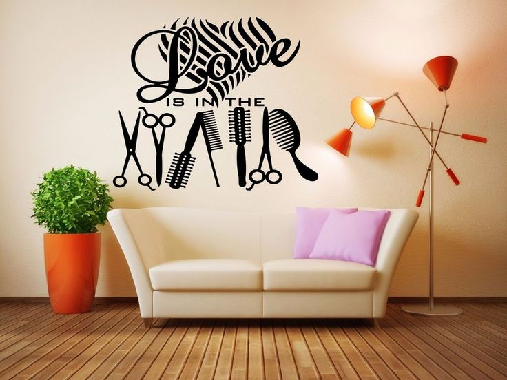 Best Hair Salon Decor Images On Pinterest Salon Ideas Beauty - Custom vinyl wall decals for hair salonvinyl wall decal hair salon stylist hairdresser barber shop