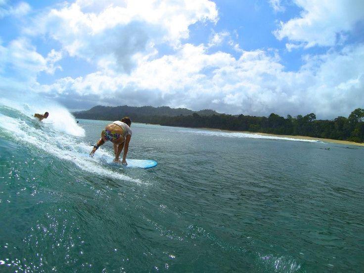 Surfer Girl in Action