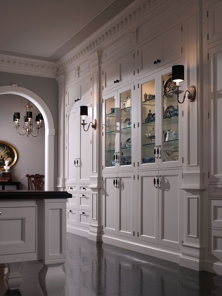 Traditional Southampton Kitchen By #WoodMode, Shown In Nordic White Finish  On Regent Door Style