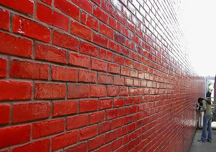 red glazed brick