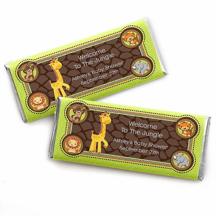 Fun Safari Jungle Baby Shower Theme Part - 46: Funfari™ - Fun Safari Jungle - Personalized Baby Shower Candy Bar Wrapper  Favors | BigDotOfHappiness