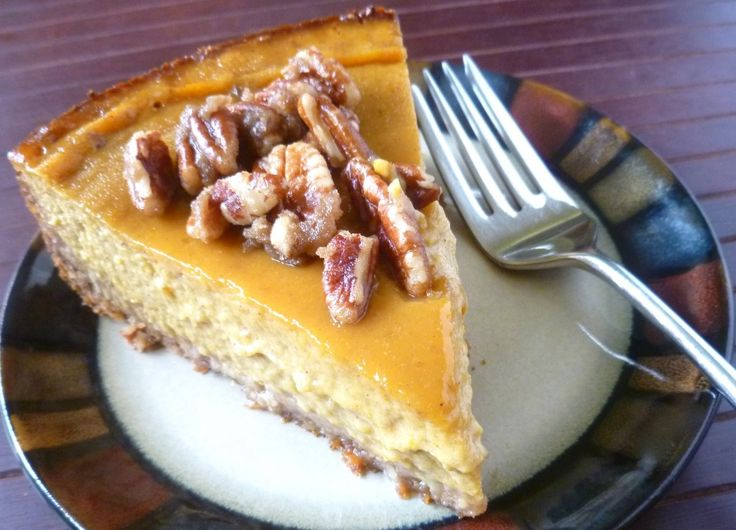 Gluten-Free Pumpkin Pie with Coconut Crust and Pecan Praline Topping