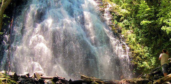 Crabtree Falls North Carolina Waterfall On Blue Ridge
