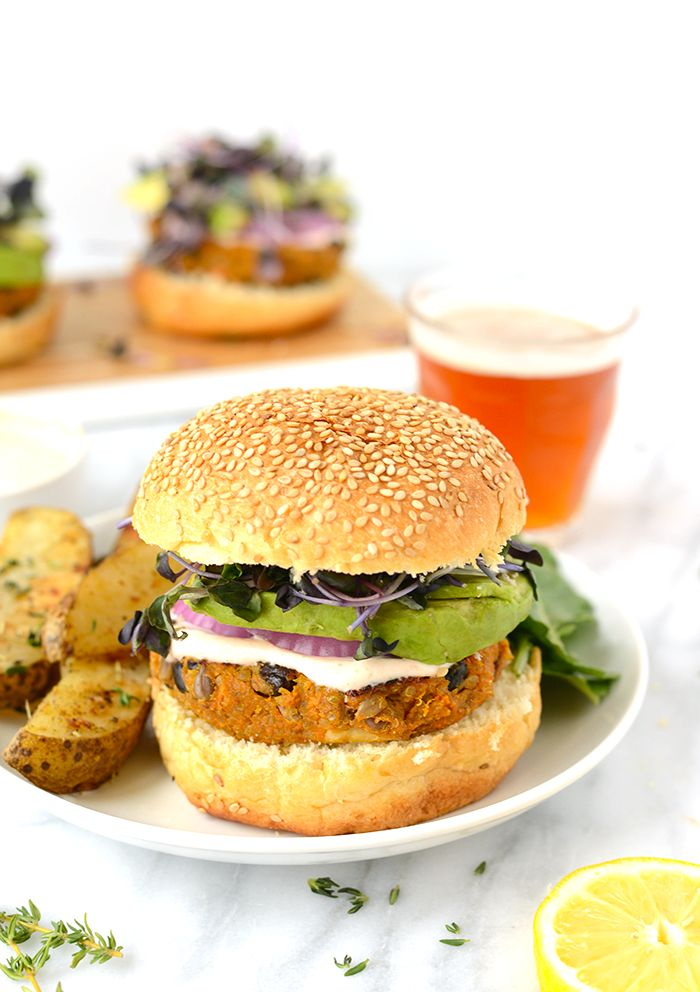 Full of texture and flavor these sweet potato quinoa burgers are an excellent protein-filled dinner...sans meat!