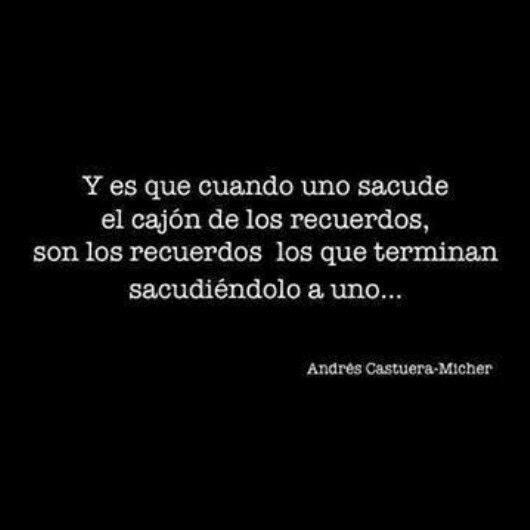 #AndrésCastueraMicher #CajónDeLosRecuerdos