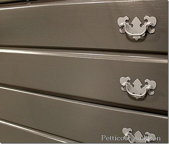 Painted Bedroom Suite, Petticoat Junktion #gray #paint #furniture