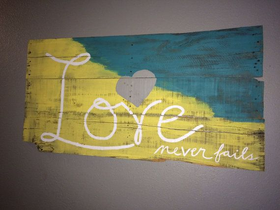Handpainted reclaimed wood look sign by TheRusticMillHouse on Etsy