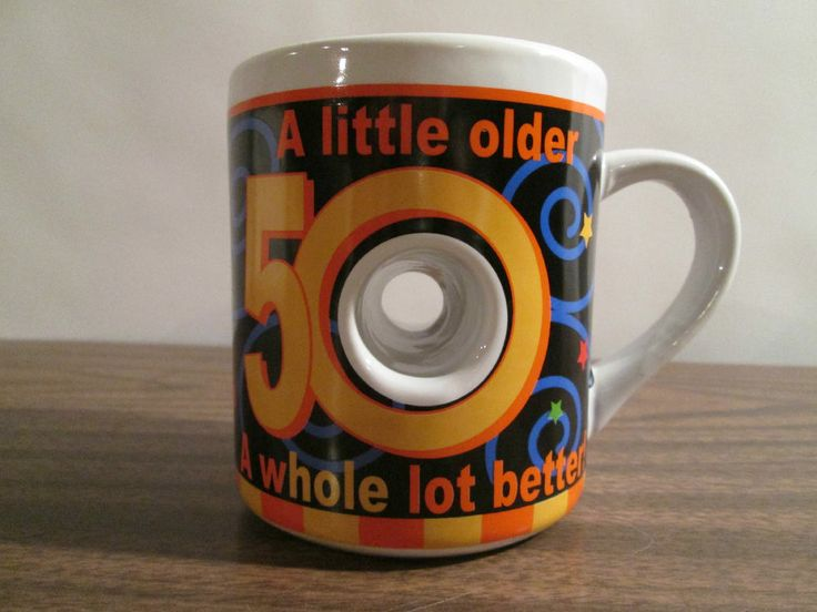 Encore 50th Birthday Donut Hole Coffee Mug A Little Older Whole Lot Better