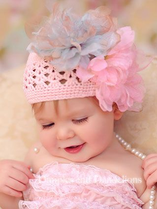 Pink & Grey Floral Crochet Hat: Little Girls, Cute Baby, Crochet Hats, Baby Faces, Baby Hats, Baby Girls, Baby Photography, Pink Princesses, Beautiful Baby