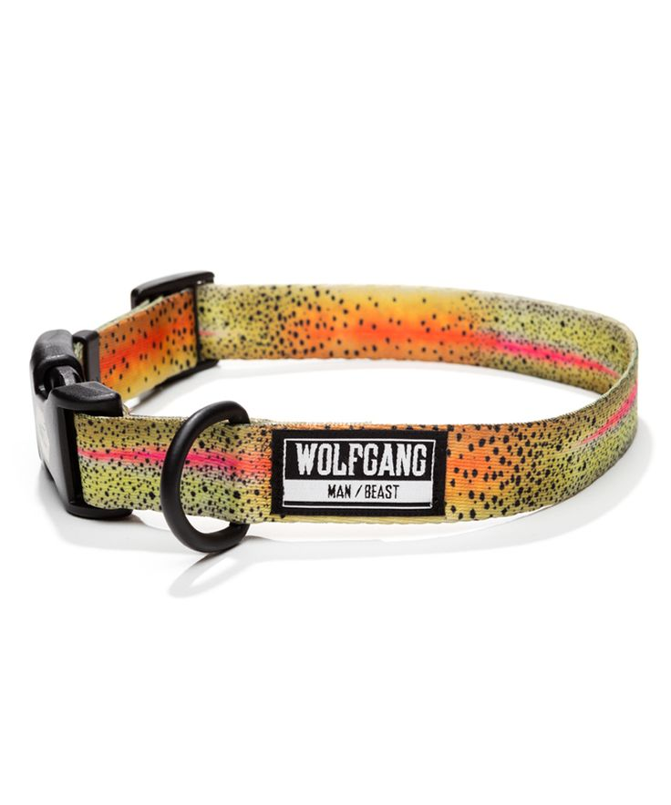 Trout Print Dog Collar