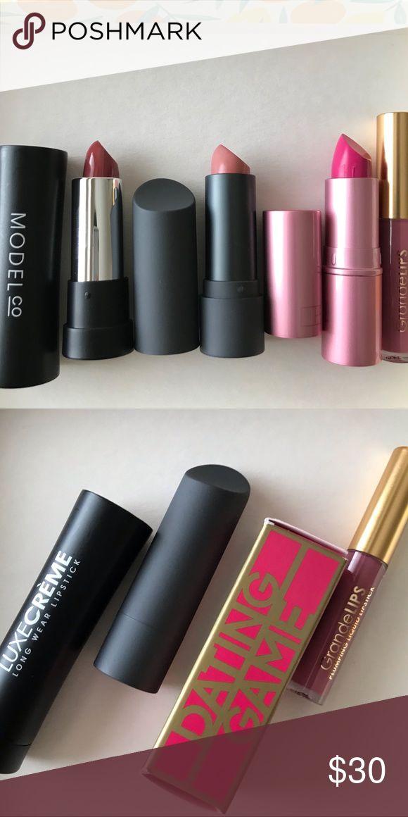 Bite beauty Lipstick Queen Grande lips Model Co 3 Full size Lipsticks and 1 trav…