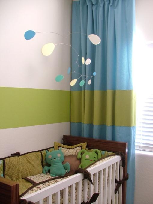 Curtain stripe & wall stripe line up. Like!