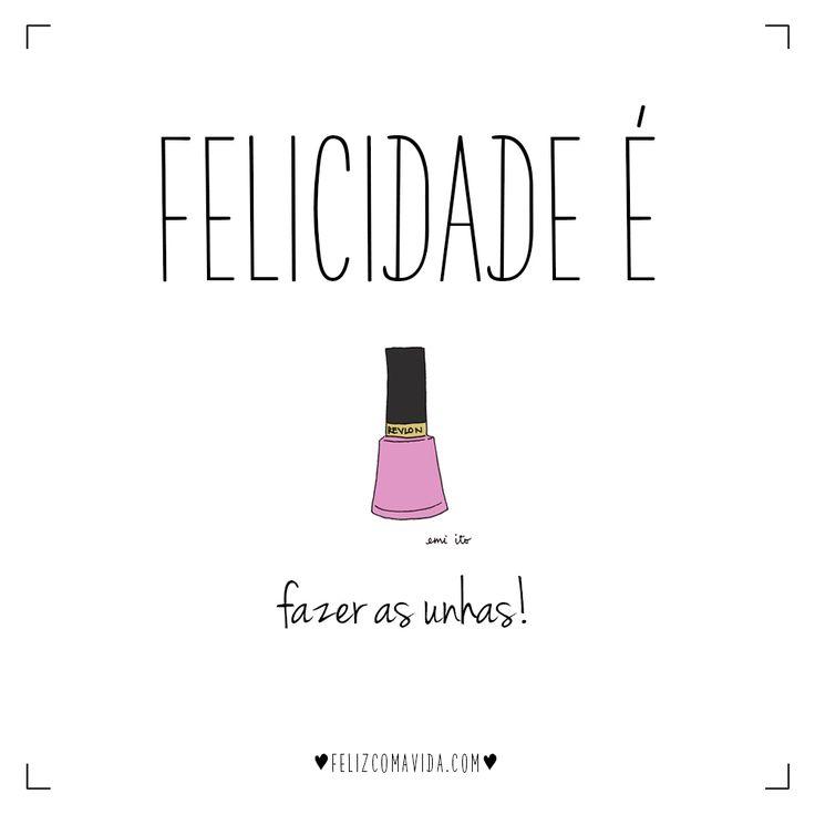 =) | felicidade, feliz, fim de semana, unhas, esmalte, nails, nail polish, happy, happiness |
