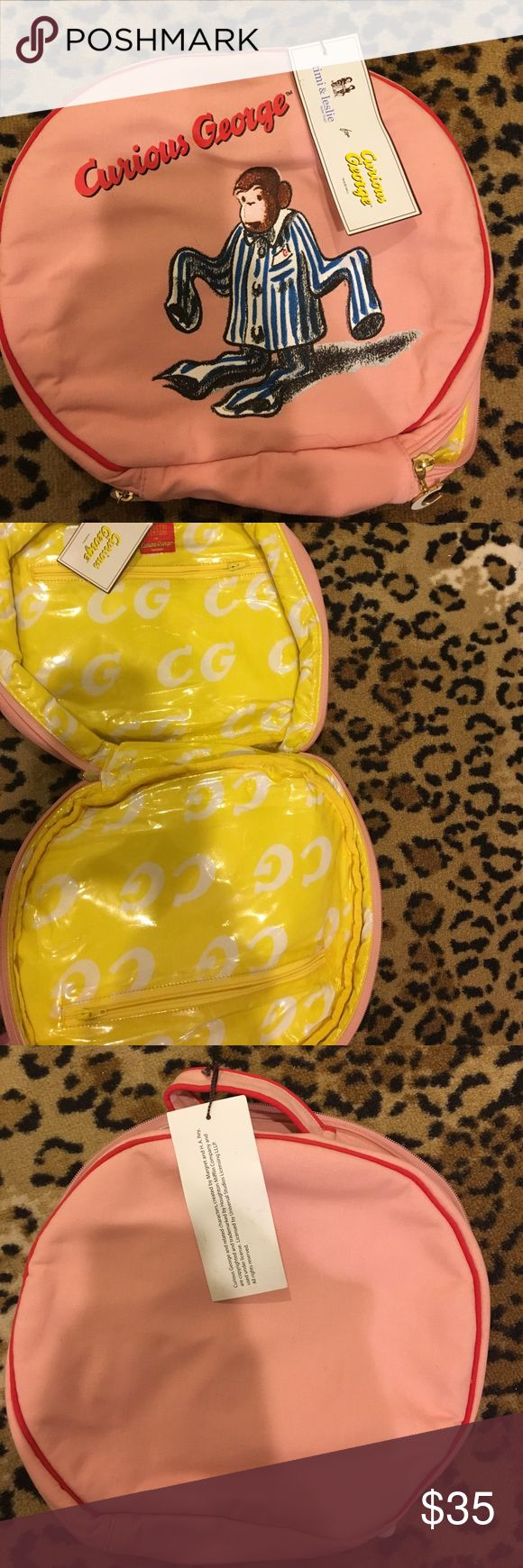 Adorable curious George travel pouch NWT This bag has many uses and is super cute! Timi & Leslie Bags