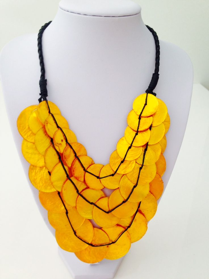Beautiful yellow triple layer shell necklace $15, go to www.melikeshoes.com.au (We always do free shipping)
