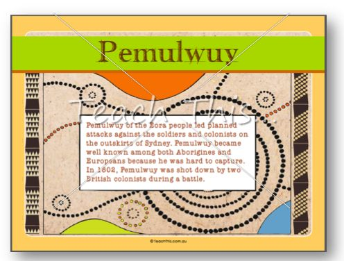 Pemulwuy Black War Poster