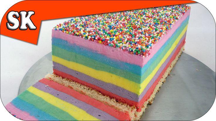 Rainbow, Ice Cream Cake on Steve's Kitchen