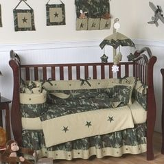 Green Camo Baby Bedding