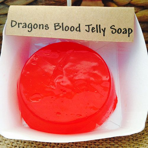 Jelly Soap, scented with Dragons Blood. By Fizzed au