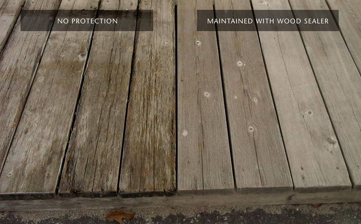 """Sansin Wood Sealer - protecting wood from Water & UV damage but still allowing natural weathering to give the """"driftwood"""" effect. The deck shown on the image is Western Red Cedar. Sansin Wood Sealer was applied every 3 years for 12 years."""