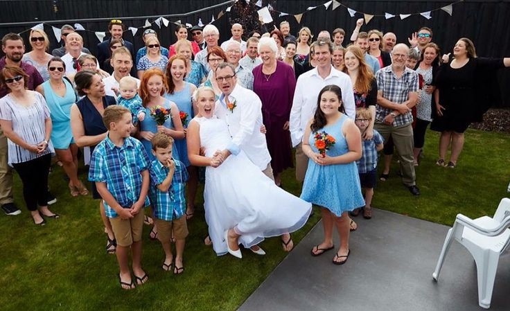 Congrats to Chris & Larraine who got hitched in an intimate backyard ceremony in front of family and those others who carry out a valuable service through St. John's.