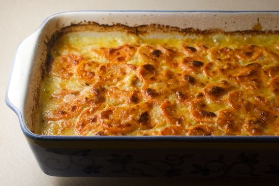 Butternut Squash and Sweet Potato Gratin Recipe ...
