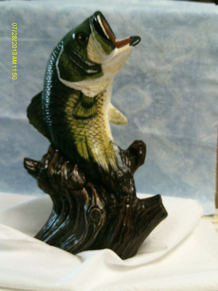 Large mouth bass. Hand painted by Ginny's Wild Side
