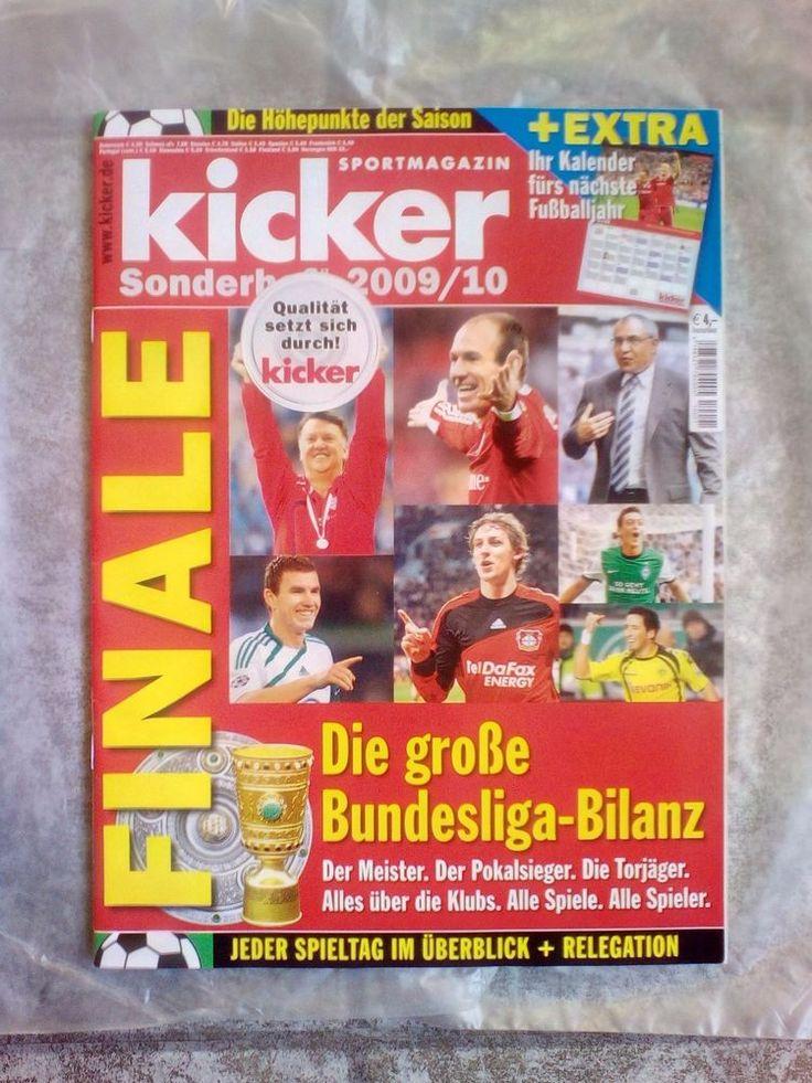 Kicker!Sportmagazin!Die Bundesliga Bilanz!Sonderheft  2009/10!NEU!  | eBay