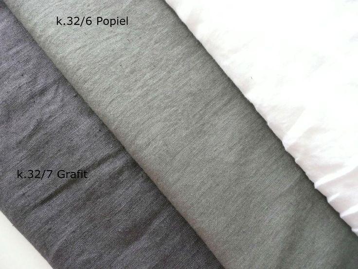 LEN 100%  odzieżowy zmiękczany  Popiel / GRAFIT