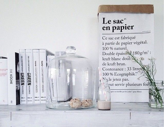 le sac en papier avec inscription be p les places blog. Black Bedroom Furniture Sets. Home Design Ideas