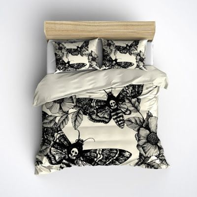 Goth Shopaholic: Dark and Dreary Skull Bedding from Ink and Rags