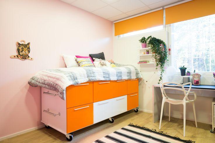 Kiintokaluste-elementeistä voi rakentaa vaikka sängyn. Unique Home®  - uniquehome.fi
