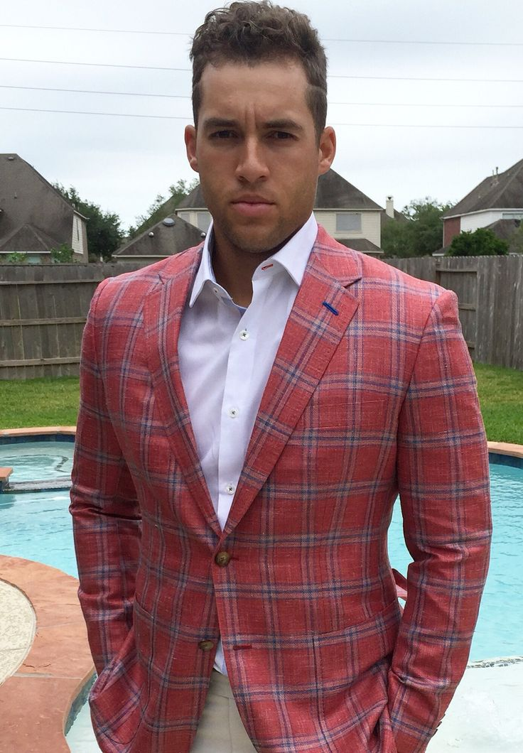 George Springer of the Houston Astros wearing a b.spoke sportcoat made with Gladson fabric. Get yours at www.bspokestyle.com