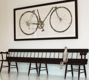 Fantastic framed bicycle art!