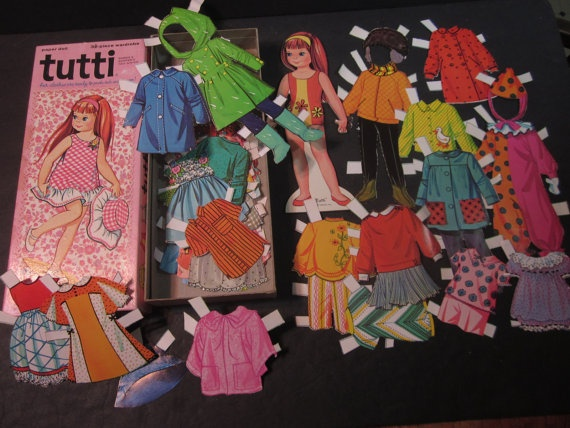 Paper Dolls  ** One of my favorite childhood memories of all. I had shoeboxes full of paperdolls.