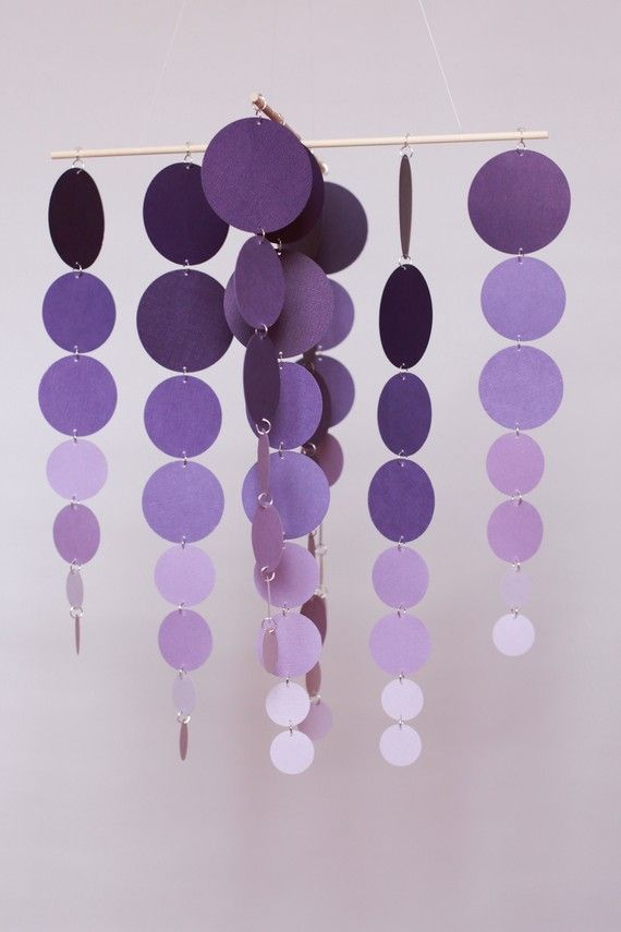 Shades of Purple.Decor, Painting Samples, Painting Chips, Paint Chips, Painting Swatches, Purple Mobiles, Shades Of Purple, Baby Mobiles, Paint Samples