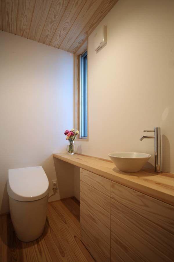 デザイン間取りにこだわった家 名古屋 春日井注文住宅 Kisetsu 家 お手洗い トイレ