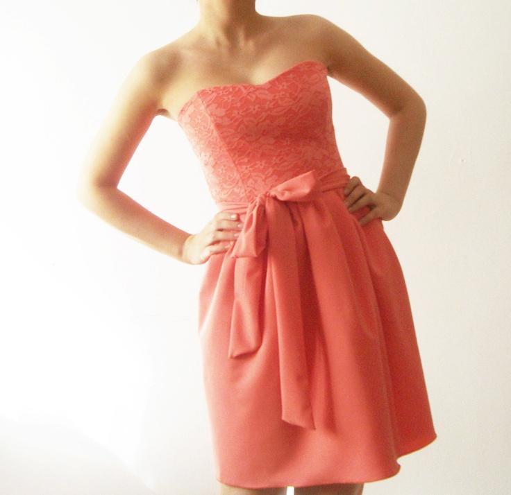 25  best ideas about Salmon bridesmaid dresses on Pinterest | Pink ...
