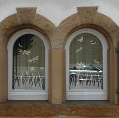 Fenstertattoo, Lovala, Vogelschutz, Fenster Sticker, Fensterbild, Window Sticker, glass decal
