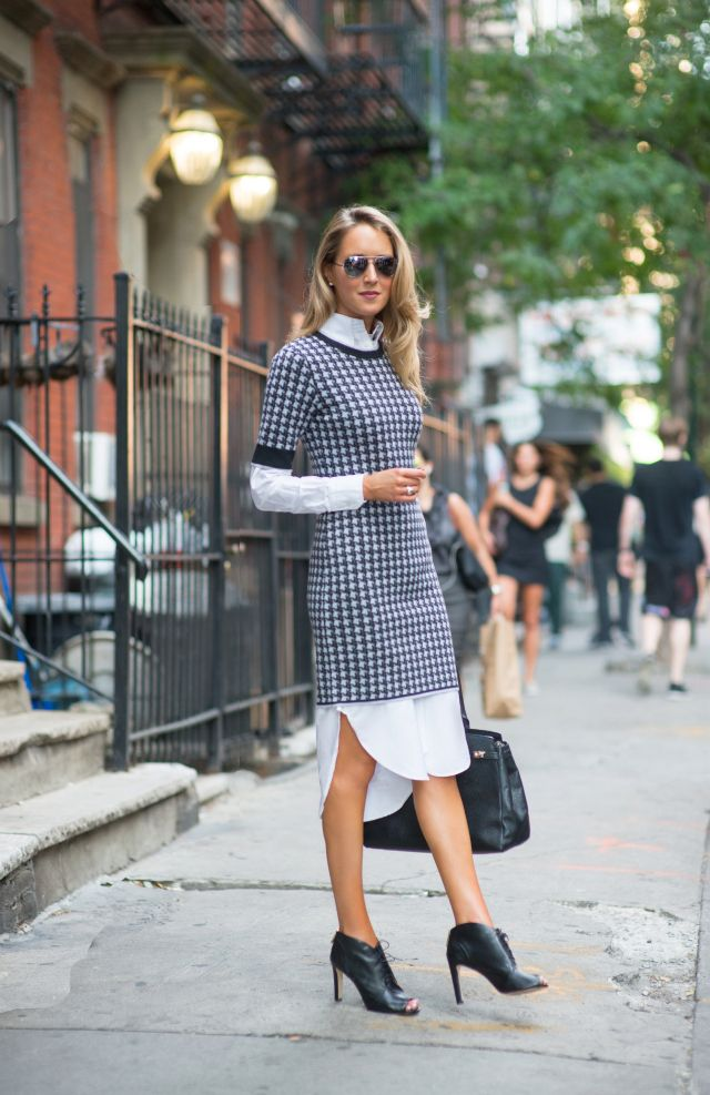 Follow rent a stylist shirt dress layered underneath a Fashion street style pinterest