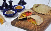 Orkiszowe pierożki curry