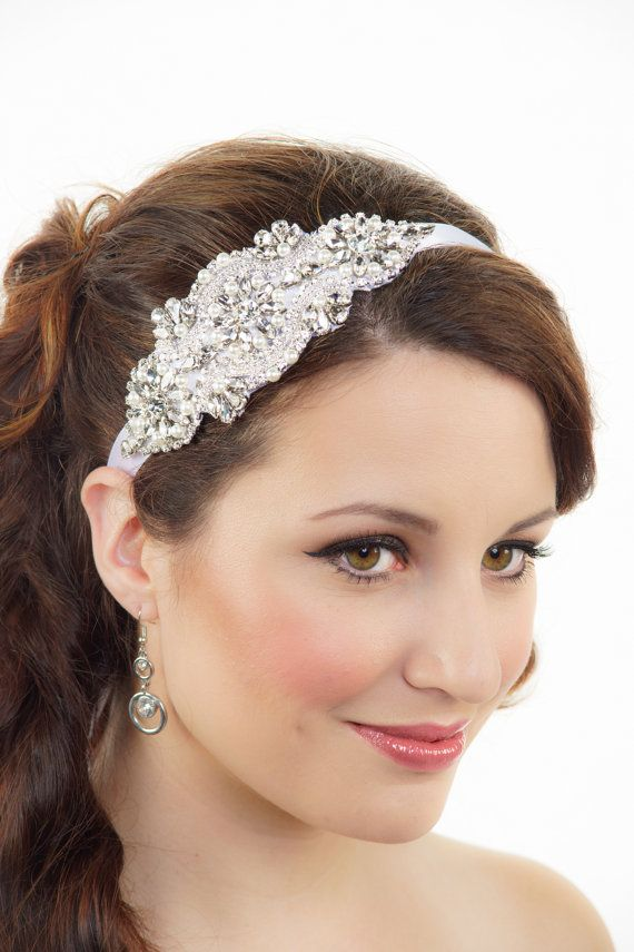 Bridal Headband Crystal headband Art Deco Headband Gatsby Hair piece Wedding Headband Flapper Headband Tiara Bridal Hair Accessories on Etsy, $124.99