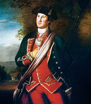 George Washington in 1772 as colonel of the Virginia Regiment; by Charles Willson Peale
