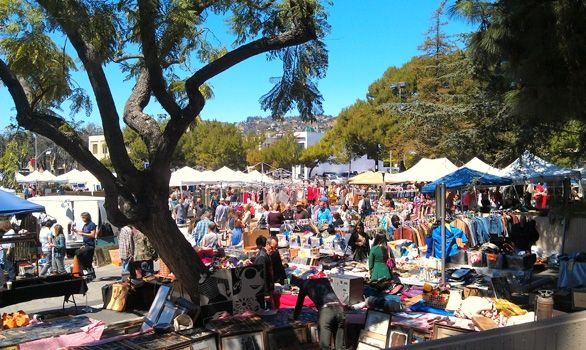 Melrose Trading Post; Located in the parking lot of Fairfax High School (Corner of Fairfax and Melrose Avenue)  Every Sunday 9am to 5pm  Rain or Shine  Free Parking  2.00 Admission Fee