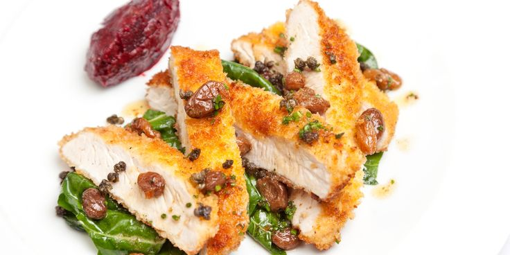 Dave Watts' turkey escalope recipe is both humble and unique, serving with a beetroot and caper chutney and tea-soaked sultanas